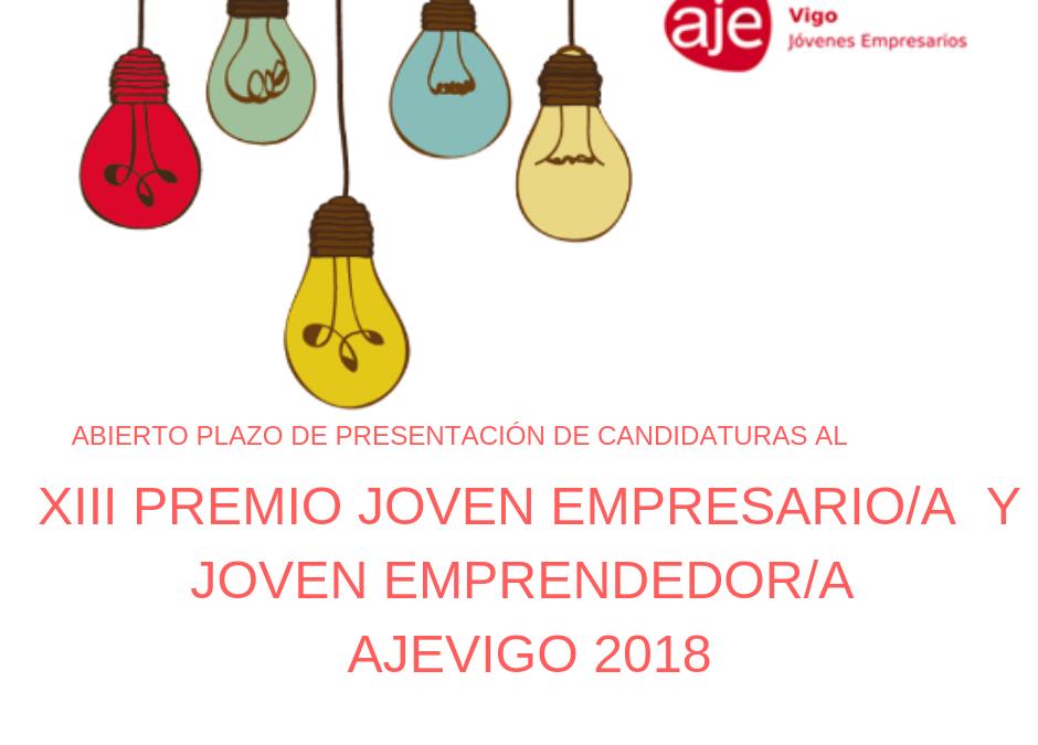 PREMIOS JOVEN EMPRESARIO/A  Y JOVEN EMPRENDEDOR/A AJE VIGO 2018